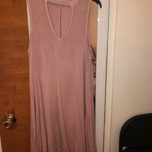 Light pink flowy dress